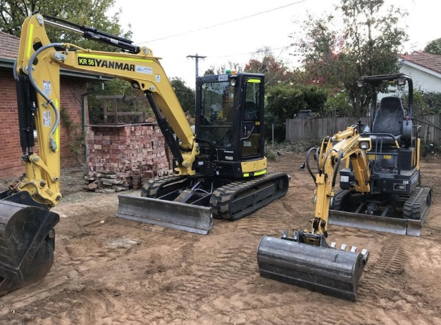 Hire mini digger for DIY projects